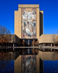 Library Named in 1987 after Father Theodore M. Hesburgh